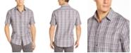Tasso Elba Men's Stretch Dobby Plaid Woven Shirt, Created For Macy's