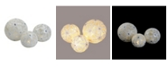 Northlight Set of 3 Battery Operated Lighted LED Snowflake Ball Decorations