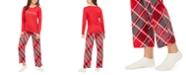 Hue Printed T-Shirt & Plaid Pajama Pants Set, Online Only