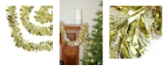 Northlight 50' Gold and White Wide Cut Christmas Tinsel Garland - Unlit