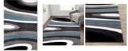 "Main Street Rugs Home Montane Mon110 Blue 3'3"" x 5' Area Rug"