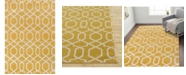 Main Street Rugs Home Alba Alb304 Yellow 9' x 12' Area Rug
