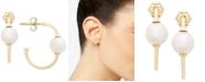 Macy's Cultured Freshwater Pearl (6mm) Hoop Earrings in 14k Gold