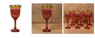 Lorren Home Trends Red Goblets - Set of 6