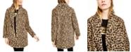 Calvin Klein Leopard-Print Fleece Flyaway Jacket