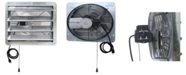 "iLiving 16"" Shutter Exhaust Attic Garage Grow Fan, Ventilation Fan with 3 Speed Thermostat"