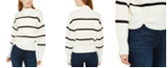 Calvin Klein Jeans Striped Mock-Neck Sweater
