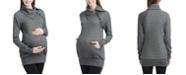 kimi + kai Alaina Envelope Collar Maternity Sweatshirt