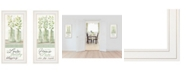 """Trendy Decor 4U Home and Family 2-Piece Vignette by Cindy Jacobs, White Frame, 11"""" x 27"""""""
