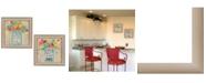 "Trendy Decor 4U Mason Jars II Collection By Debbie Strain, Printed Wall Art, Ready to hang, Beige Frame, 30"" x 15"""