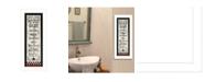 "Trendy Decor 4U Bath Rules By Linda Spivey, Printed Wall Art, Ready to hang, White Frame, 10"" x 26"""