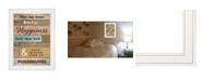 """Trendy Decor 4U Our Home by Karen Tribett, Ready to hang Framed Print, White Frame, 15"""" x 19"""""""
