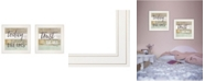 """Trendy Decor 4U Trusting in the Lord 2-Piece Vignette by Marla Rae, White Frame, 15"""" x 15"""""""