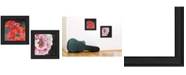 Trendy Decor 4U Trendy Decor 4U Blooms on Black 2-Piece Vignette by Lisa Morales, Frame Collection