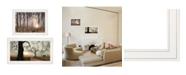 "Trendy Decor 4U Trendy Decor 4U Enchanted Sunrise 2-Piece Vignette by Lori Deiter, White Frame, 27"" x 15"""
