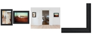 "Trendy Decor 4U Abstract Flight 2-Piece Vignette by Cloverfield Co, Black Frame, 19"" x 15"""