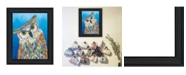 "Trendy Decor 4U Hooo Me by Lisa Morales, Ready to hang Framed Print, Black Frame, 15"" x 19"""