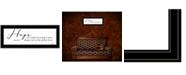 "Trendy Decor 4U Hope by Lori Deiter, Ready to hang Framed Print, Black Frame, 23"" x 11"""