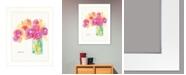 "Trendy Decor 4U Speak in Flowers by Kait Roberts, Ready to hang Framed Print, White Frame, 15"" x 19"""