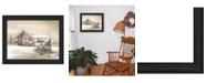 "Trendy Decor 4U Bringing Home the Tree By John Rossini, Printed Wall Art, Ready to hang, Black Frame, 26"" x 20"""