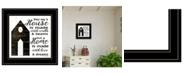 "Trendy Decor 4U A House by Cindy Jacobs, Ready to hang Framed Print, Black Frame, 15"" x 15"""