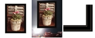 """Trendy Decor 4U Welcome Roses by Anthony Smith, Ready to hang Framed Print, Black Frame, 15"""" x 21"""""""