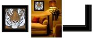 "Trendy Decor 4U Tiger Gaze by Britt Hallowell, Ready to hang Framed Print, Black Frame, 15"" x 15"""