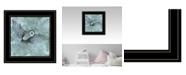 "Trendy Decor 4U Simplicity Owl by Britt Hallowell, Ready to hang Framed Print, White Frame, 15"" x 15"""