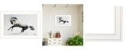 "Trendy Decor 4U White Stallion by andreas Lie, Ready to hang Framed Print, White Frame, 21"" x 15"""