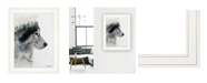 """Trendy Decor 4U Wolf Stare by andreas Lie, Ready to hang Framed Print, White Frame, 15"""" x 19"""""""