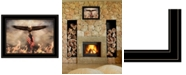 "Trendy Decor 4U Blaze of Glory by Lori Deiter, Ready to hang Framed Print, Black Frame, 21"" x 15"""
