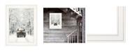 "Trendy Decor 4U Antique Christmas by Lori Deiter, Ready to hang Framed Print, White Frame, 15"" x 19"""