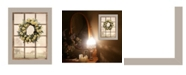 "Trendy Decor 4U Country Gazing by Lori Deiter, Ready to hang Framed Print, Sand Window-Style Frame, 14"" x 18"""