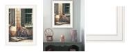 "Trendy Decor 4U Trendy Decor 4U Picnic Getaway by John Rossini, Ready to hang Framed Print, White Frame, 15"" x 19"""
