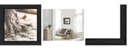 "Trendy Decor 4U Country Cardinal By John Rossini, Printed Wall Art, Ready to hang, Black Frame, 15"" x 15"""