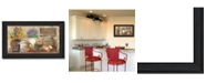 """Trendy Decor 4U Antique Kitchen By Ed Wargo, Printed Wall Art, Ready to hang, Black Frame, 11"""" x 20"""""""