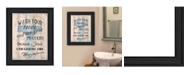 Trendy Decor 4U Trendy Decor 4U Bathroom Humor by Debbie DeWitt, Ready to hang Framed Print Collection