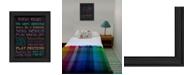 "Trendy Decor 4U Trendy Decor 4U Girl's Rules By Debbie DeWitt, Printed Wall Art, Ready to hang, Black Frame, 14"" x 18"""