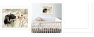 "Trendy Decor 4U The Winter Robin by Bonnie Mohr, Ready to hang Framed Print, White Frame, 18"" x 14"""