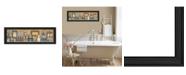 "Trendy Decor 4U Starlight Bath By Carrie Knoff, Printed Wall Art, Ready to hang, Black Frame, 33"" x 11"""