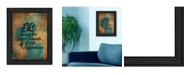 "Trendy Decor 4U Good Friends By Susan Ball, Printed Wall Art, Ready to hang, Black Frame, 15"" x 19"""