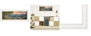 "Trendy Decor 4U Summer Breeze by Kim Norlien, Ready to hang Framed Print, White Frame, 27"" x 11"""