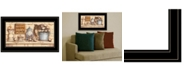 """Trendy Decor 4U My Happy Place by Mary Ann June, Ready to hang Framed Print, Black Frame, 21"""" x 12"""""""