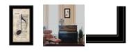 "Trendy Decor 4U Trendy Decor 4U Music by Marla Rae, Ready to hang Framed Print, Black Frame, 12"" x 21"""