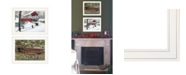 """Trendy Decor 4U Covered Bridge Collection II 2-Piece Vignette by Billy Jacobs, White Frame, 19"""" x 15"""""""