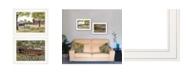"Trendy Decor 4U The Spring House 2-Piece Vignette by Billy Jacob, White Frame, 19"" x 15"""