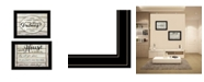 "Trendy Decor 4U Family Values 2-piece Vignette By Cindy Jacobs, Black Frame, 21"" x 15"""