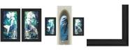 "Trendy Decor 4U Under The Sea 2-Piece Vignette by Cindy Jacobs, Black Frame, 11"" x 19"""
