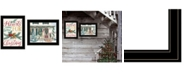 """Trendy Decor 4U Come Home for Christmas 2-Piece Vignette by Cindy Jacobs and Richard Cowdrey, Black Frame, 15"""" x 19"""""""