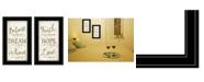 "Trendy Decor 4U Faith / Believe 2-Piece Vignette by Mollie B, Black Frame, 12"" x 21"""